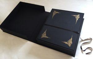 box with portfolio case